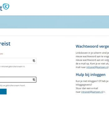 Screenshot Intranet gemeente Kampen